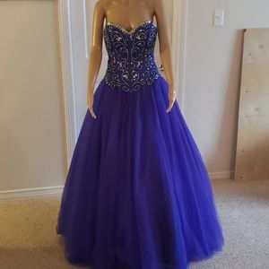 Royal Blue Size 0 Ball Gown